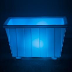 Led Işıklı Konik Dikdörtgen Saksı DSK-003